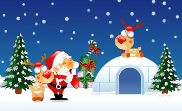 Christmas Cartoon Wallpaper