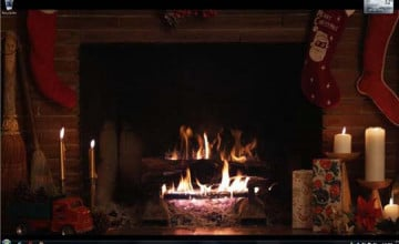 Christmas Fireplace Wallpaper Animated