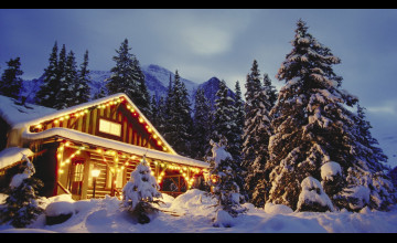 Christmas in the Mountains Wallpaper