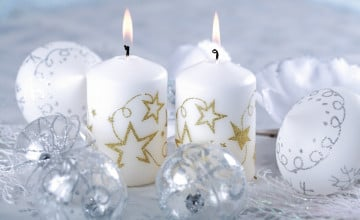 Christmas Trees Candles Images Wallpaper