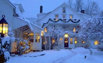 Christmas Winter Scenes Desktop Wallpaper