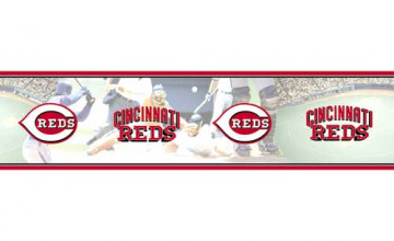 Cincinnati Reds Wallpaper Border