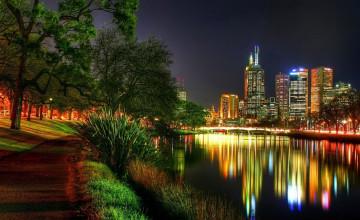 Cities at Night Wallpaper