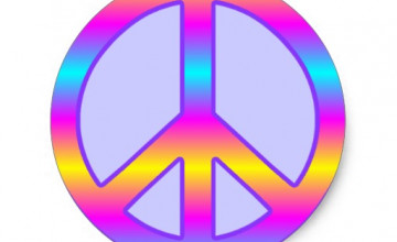 Colorful Peace Signs Wallpaper
