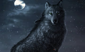 Cool Black Wolf Wallpaper