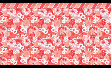 Coral Flowered Wallpaper