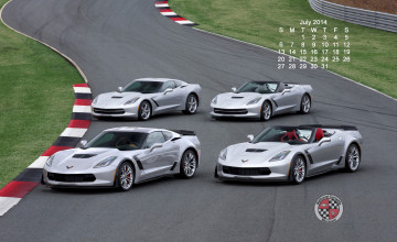 Corvette Wallpaper Monthly Calendar
