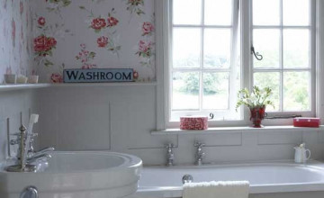 Country Bathroom Wallpaper Designs