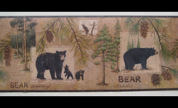 Country Black Bear Wallpaper Border