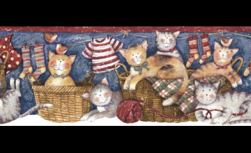 Country Cats Wallpaper Border
