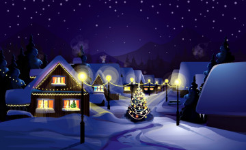 Country Christmas Wallpaper Widescreen