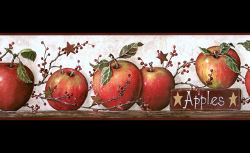 Country Kitchen Wallpaper Apple Border