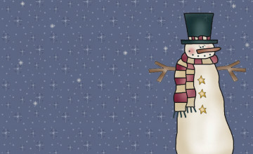 Country Snowman Wallpaper