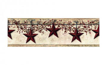 Country Star Wallpaper Border
