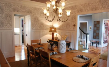 Country Wallpaper for Dining Room