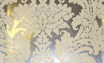 Cream and Silver Wallpaper