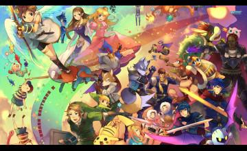 Create Smash Bros Wallpaper