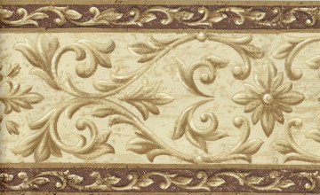 Crown Moulding Brown Wallpaper Border
