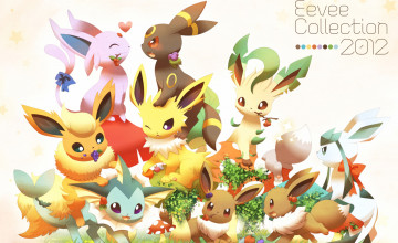 Cute Eevee Evolutions Wallpaper