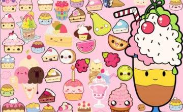 Cute Kawaii Food Wallpaper