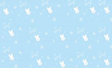 Cute Light Blue Wallpaper
