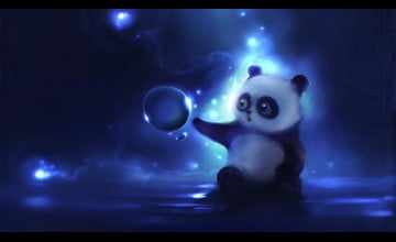 Cute Panda Desktop Wallpaper