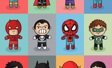 Cute Superhero Wallpaper