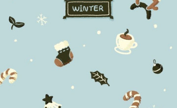 Cute Winter iPhone Wallpaper
