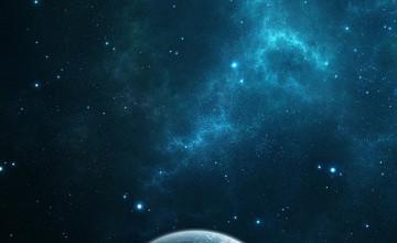 Dark Blue Space Wallpaper