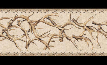 Deer Antler Wallpaper Border