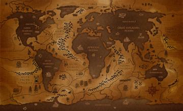 Desktop Wallpaper World Map