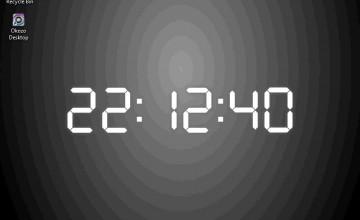 Digital Clock Wallpaper for Desktop