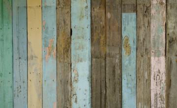 Distressed Wood Look Wallpaper