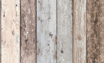 Distressed Wood Panel Wallpaper