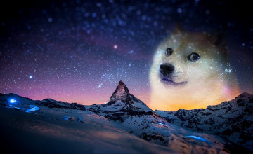 Doge Space Wallpaper