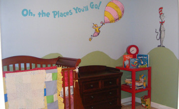 Dr Seuss Wallpaper Nursery