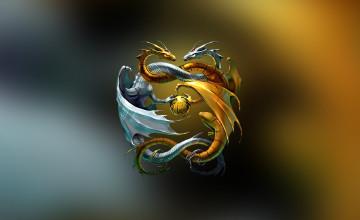 Dragon Yin Yang Wallpaper