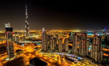 Dubai Night Wallpaper