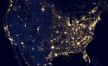 Earth at Night Desktop Wallpaper
