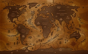 Earth Map Wallpaper