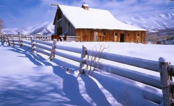Farm Winter Scenes Desktop Wallpaper