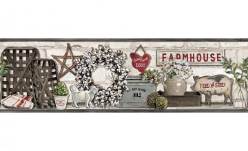 Farmhouse Wallpaper Border
