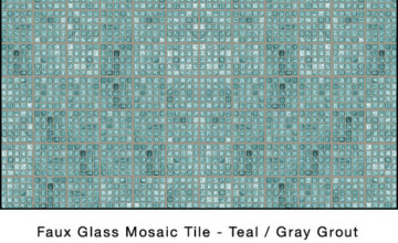 Faux Mosaic Tile Wallpaper