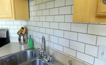 Faux Subway Tile Wallpaper Backsplash