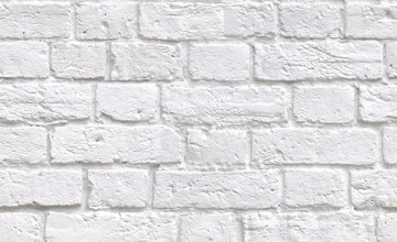 Faux White Brick Wallpaper