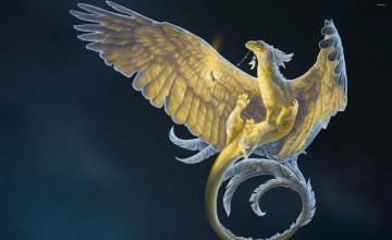 Feather Dragon Wallpaper