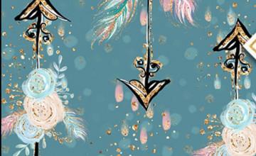 Feather Flower Wallpaper