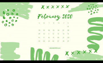 February 2020 Calendar Wallpapers