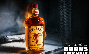 Fireball Whiskey Wallpaper
