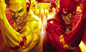 Flash vs Reverse Flash Wallpaper